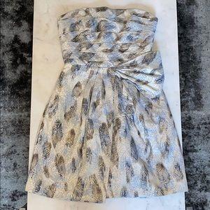 BCBG haze strapless dress